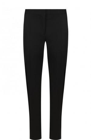 Укороченные однотонные брюки из шерсти Burberry. Цвет: черный