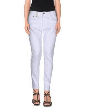 Джинсовые брюки JIJIL. Цвет: белый