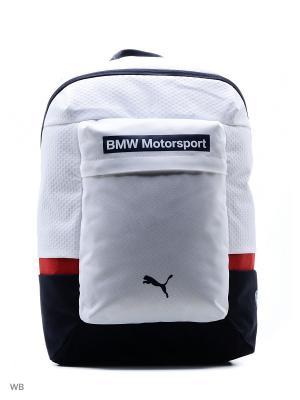 Рюкзак BMW Motorsport Backpack Puma. Цвет: черный, белый