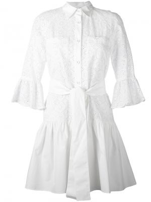 Платье-рубашка на пуговицах Derek Lam 10 Crosby. Цвет: белый