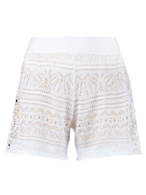 Crochet shorts Cecilia Prado. Цвет: белый