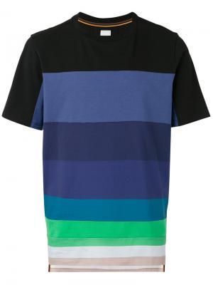 Полосатая футболка Paul Smith. Цвет: чёрный