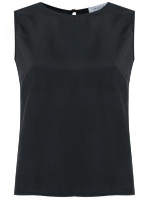 Шелковая блузка без рукавов Isolda. Цвет: чёрный