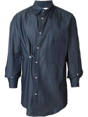 Рубашка на пуговицах Mow. Цвет: синий
