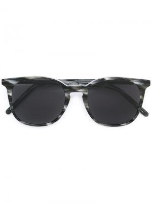 Солнцезащитные очки в круглой оправе Tomas Maier Eyewear. Цвет: чёрный