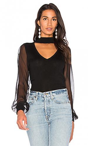 Полупрозрачный свитер ashley RAMY BROOK. Цвет: черный