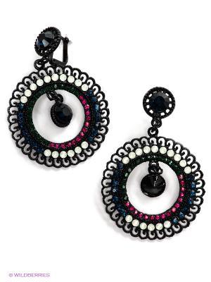 Серьги Lovely Jewelry. Цвет: черный, синий, красный
