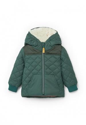 Куртка утепленная Mango Kids. Цвет: зеленый