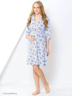 Комплект одежды EUROMAMA. Цвет: голубой