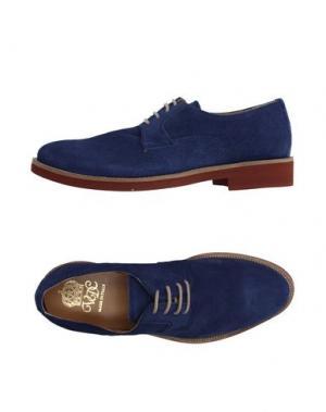 Обувь на шнурках VIA DEI CALZAIUOLI. Цвет: синий
