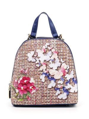 Сумка-рюкзак AnnA Wolf. Цвет: синий, розовый, светло-коричневый