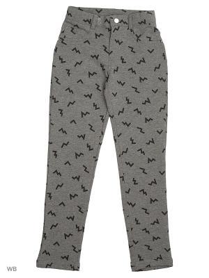 Трикотажные брюки Modis. Цвет: серый, черный