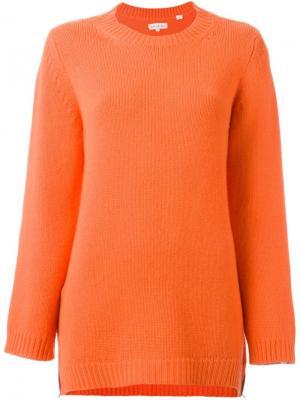 Кашемировый джемпер с боковыми молниями Chinti And Parker. Цвет: жёлтый и оранжевый