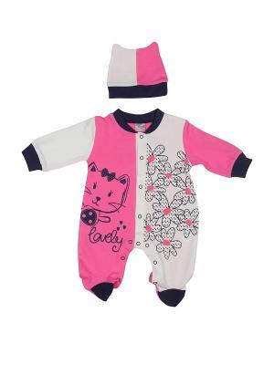 Комплект одежды M-BABY. Цвет: розовый
