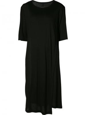 Многослойное платье-футболка Forme Dexpression D'expression. Цвет: чёрный
