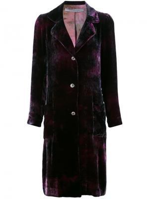 Однобортное пальто Raquel Allegra. Цвет: розовый и фиолетовый