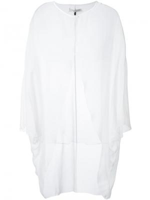 Прозрачный выходной пиджак Halston Heritage. Цвет: белый