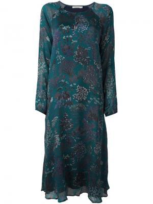 Платье миди с цветочным принтом Mes Demoiselles. Цвет: зелёный
