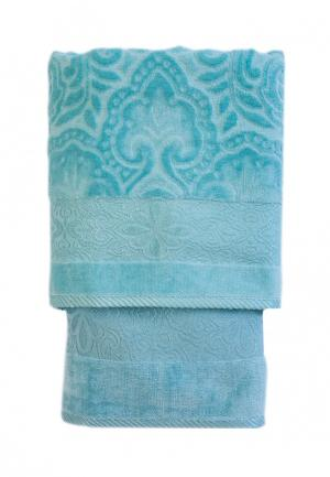 Комплект полотенец 2 шт. La Pastel. Цвет: бирюзовый