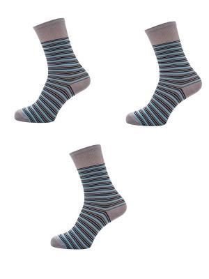 Носки Мужские,комплект 3шт Malerba. Цвет: серый