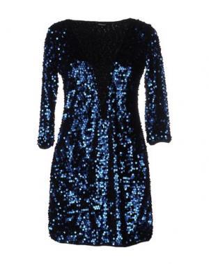 Короткое платье DENNY ROSE. Цвет: синий