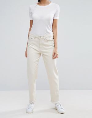 Waven Укороченные джинсы бойфренда Aki True. Цвет: кремовый