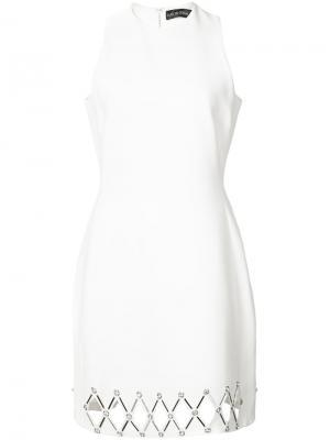 Приталенное платье David Koma. Цвет: белый