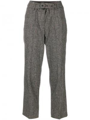 Твидовые брюки Luisa Cerano. Цвет: коричневый