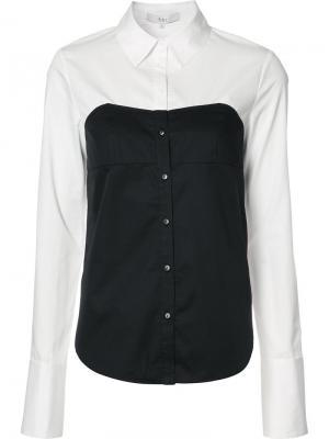 Рубашка-бюстье Tibi. Цвет: белый