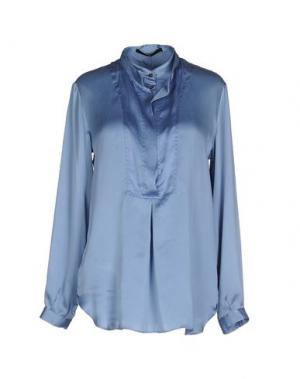 Блузка SLY010. Цвет: пастельно-синий