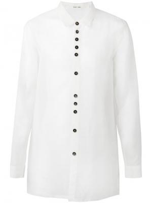 Рубашка с необработанными краями Damir Doma. Цвет: белый