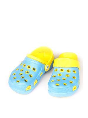 Сабо VS. Цвет: синий, желтый