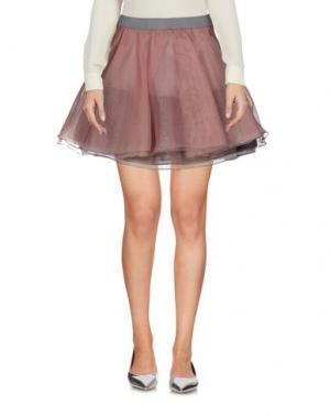 Мини-юбка POIS. Цвет: пастельно-розовый