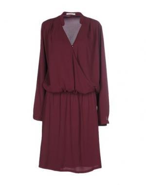 Платье до колена BY ZOÉ. Цвет: красно-коричневый