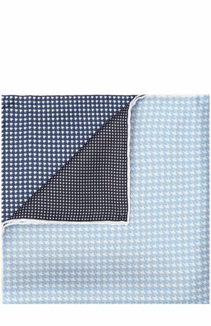 Шелковый платок с узором Lanvin. Цвет: темно-синий