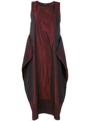 Платье в стиле шаровар Maria Calderara. Цвет: красный