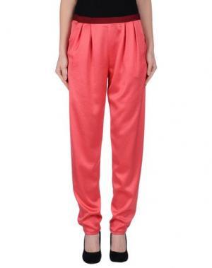 Повседневные брюки THAKOON ADDITION. Цвет: коралловый