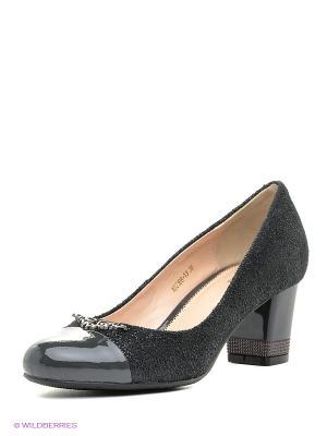 Туфли Moda Donna. Цвет: серый