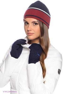 Перчатки Fundamentals Knit Gloves Puma. Цвет: темно-синий