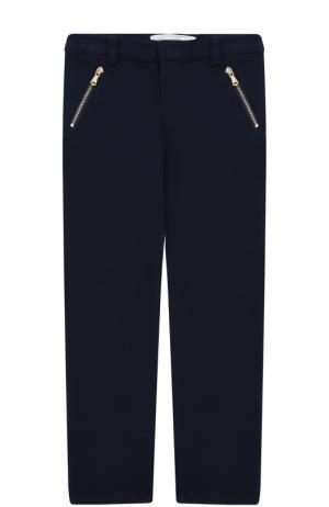 Трикотажные брюки с контрастной отделкой Tartine Et Chocolat. Цвет: синий