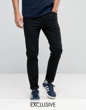 Noak Черные зауженные джинсы. Цвет: черный