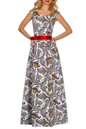 Платье Olivegrey. Цвет: бело-красный