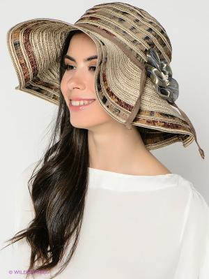 Шляпа FOMAS. Цвет: бежевый, коричневый