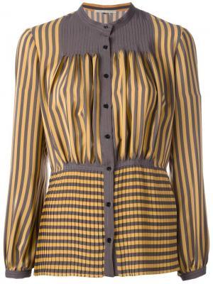 Рубашка в полоску Marco De Vincenzo. Цвет: жёлтый и оранжевый