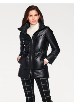 Кожаная куртка ASHLEY BROOKE by Heine. Цвет: черный