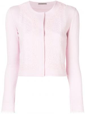 Укороченный пиджак Ermanno Scervino. Цвет: розовый и фиолетовый