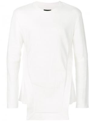 Асимметричный свитер D.Gnak. Цвет: белый