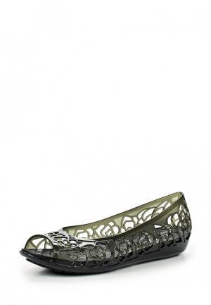Балетки Crocs. Цвет: хаки