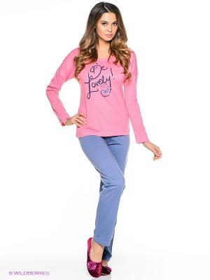 Пижама Vienetta Secret. Цвет: розовый, голубой