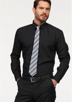Комплект: рубашка + галстук STUDIO COLETTI. Цвет: белый, синий, черный